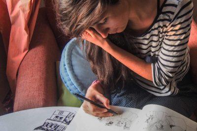 """Матея, която нарисува Кико: """"Леко му завиждам за безкрайната енергия за игра и подскачане"""""""